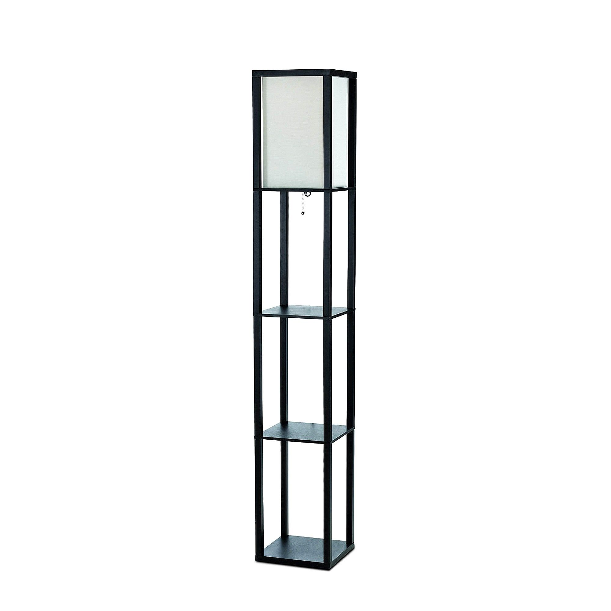 All The Rages Lf1014 Blk In 2019 Floor Lamp With Shelves Wood