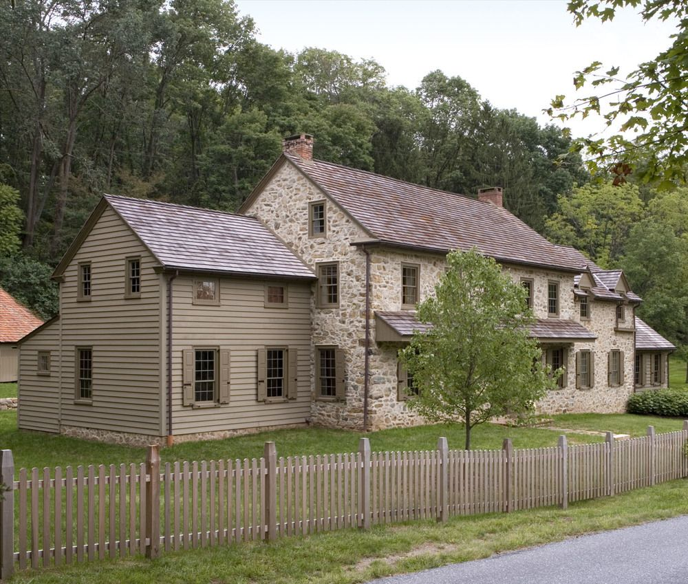 Stone house addition renovation oley pa peter for Colonial house addition