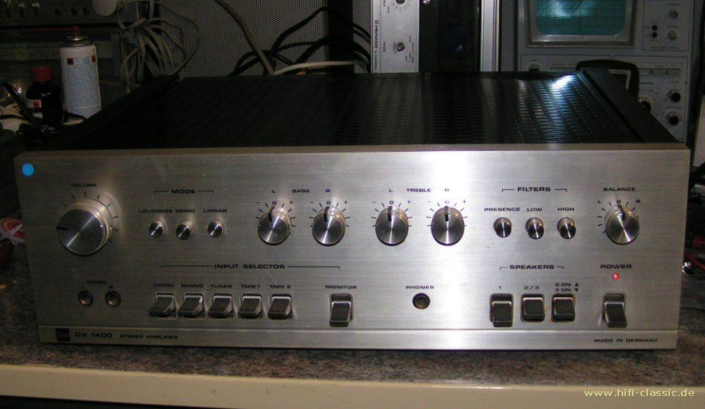 Dual Cv 1400 Integrateg Amplifier Hifi Audio Audio Mixer