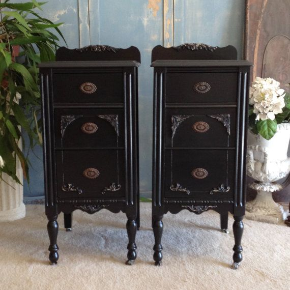 Pin By Tena Tilk Independent Color On Restored Refreshed Furniture Inspiration Furniture Painted Night Stands Shabby Chic Furniture