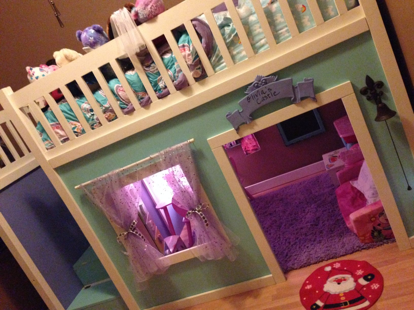 Loft bed storage ideas  Full Size Playhouse Loft Bed with Storage Stairs  DIY For the Kids