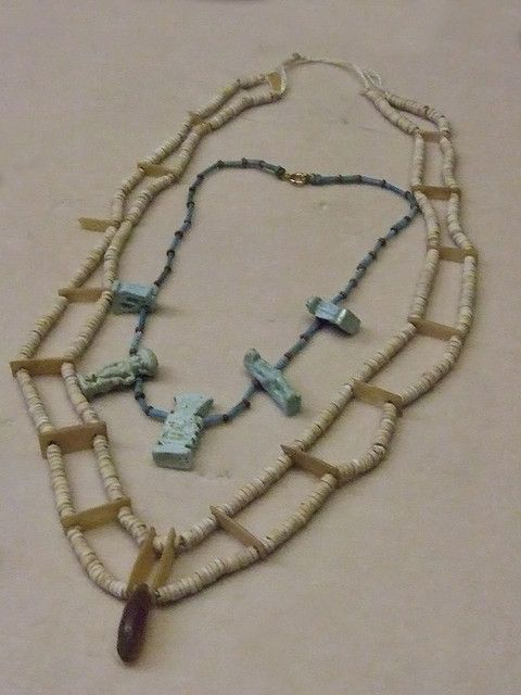 Shell and Faience Necklace MIddle Kingdom Egypt