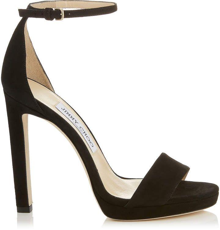 3e0994ab358 Jimmy Choo MISTY 120 Black Suede Platform Sandals