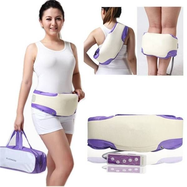 Electronic Vibrating Heating Slimming Slim Massage Belt Lose Weight Abdomen Waist Back Exercise Massager at Banggood