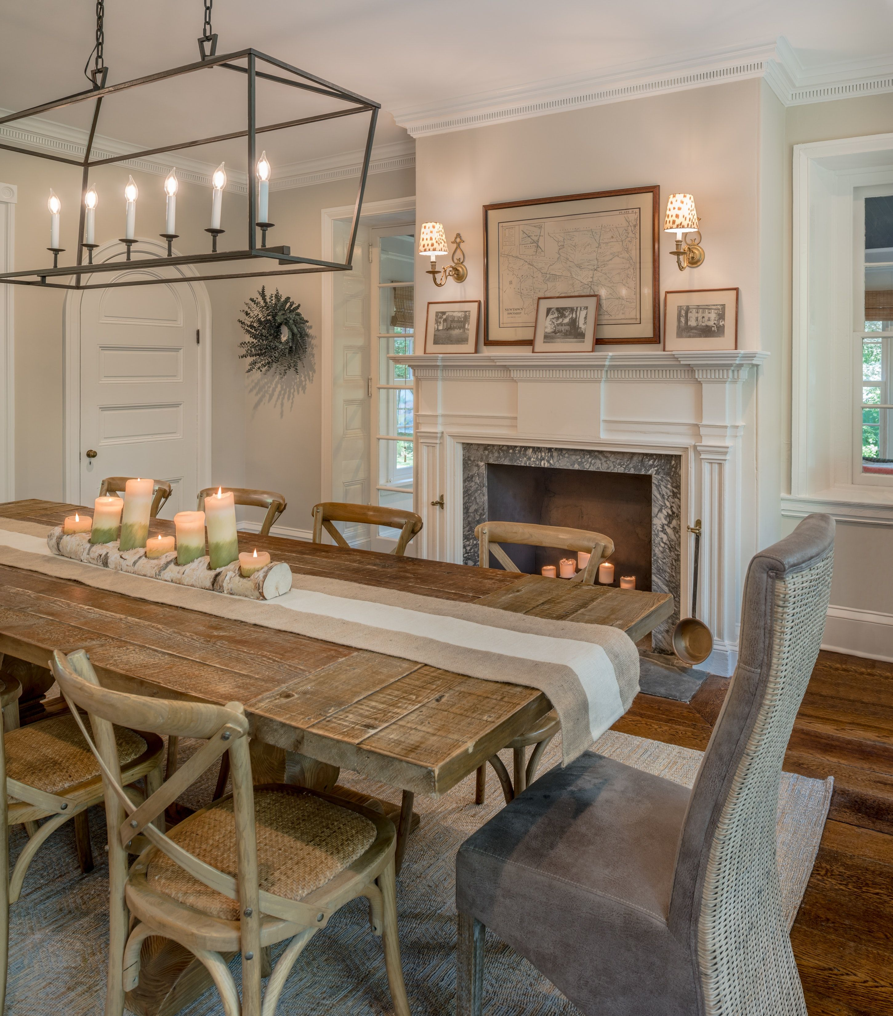 Renovated Dining Room Of A 19th Century Pennsylvania Farmhouse By
