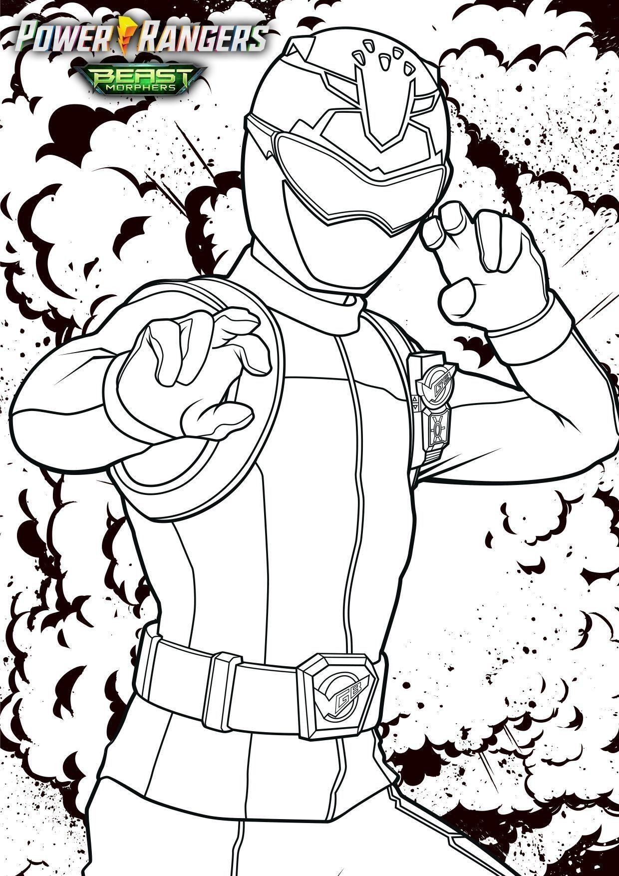 Coloriages Power Rangers Beast Morphers à imprimer - Power ...