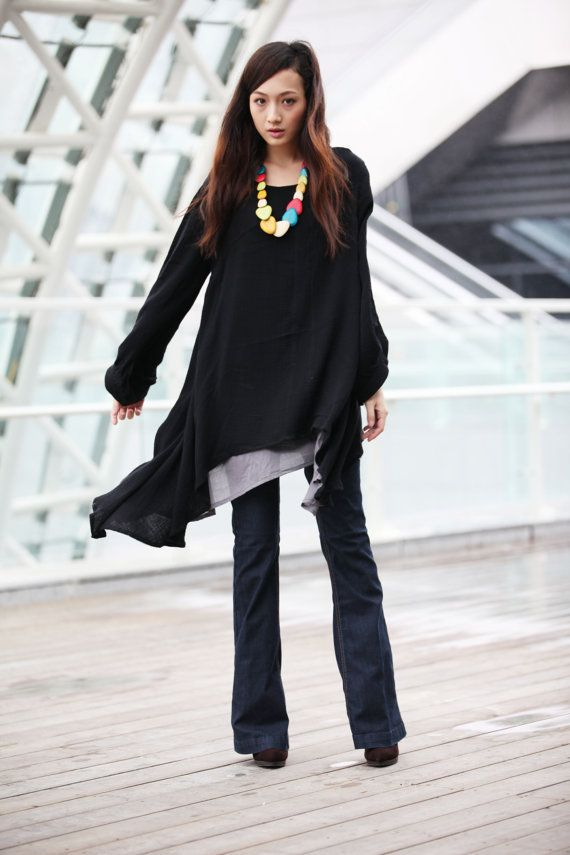 321d06c298e49 Lagenlook Ethnic Dress Long Sleeve Loose Fitting by Sophiaclothing ...