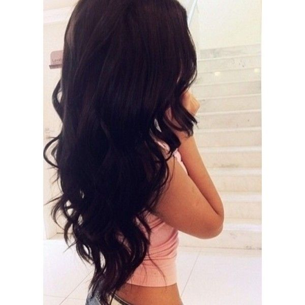 Long Black Hair Tumblr Liked On Polyvore Featuring Beauty Products Haircare Hair Styling Tools Hair Hairstyles Be Hair Styles Hair Styler Long Dark Hair