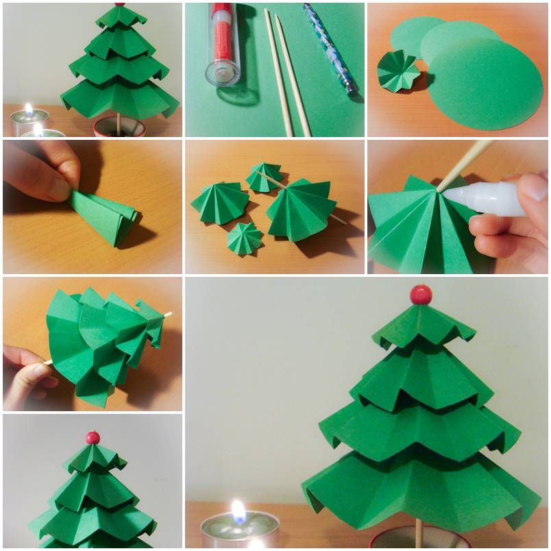 How To Make Simple Paper Christmas Trees Step By Step Diy Tutorial Instructions How To How To Do Diy Christmas Crafts Paper Folding Crafts Paper Crafts Diy