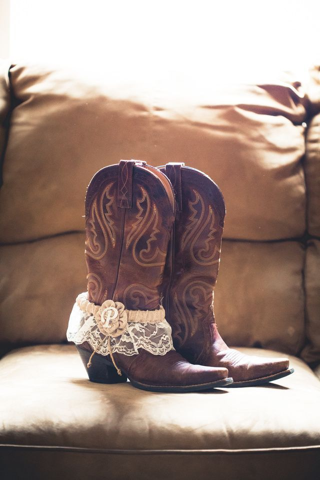 Rustic Wedding Idea Wear Cowboy Boots As Shoes Then Put Your Garter On