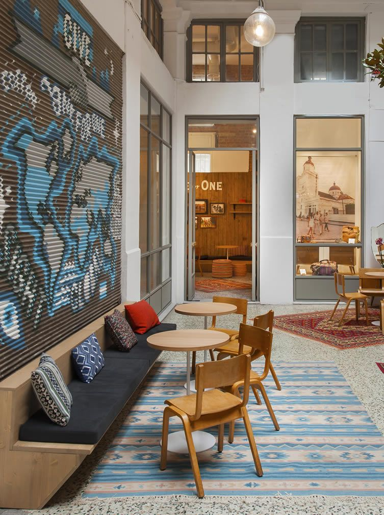 c66c404cfd0 TOMS assimmilate the fabric of the city into their Thessaloniki flagship  store