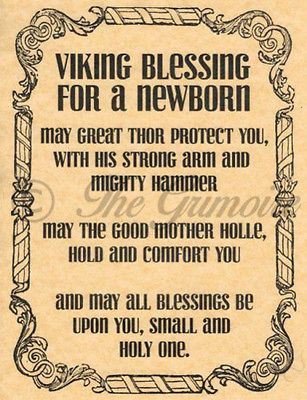 Newborn Blessing, Book of Shadows Spells Page, Witchcraft