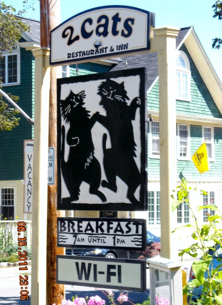 2 Cats Restaurant Inn Bar Harbor Me Best Breakfast In Another Favorite