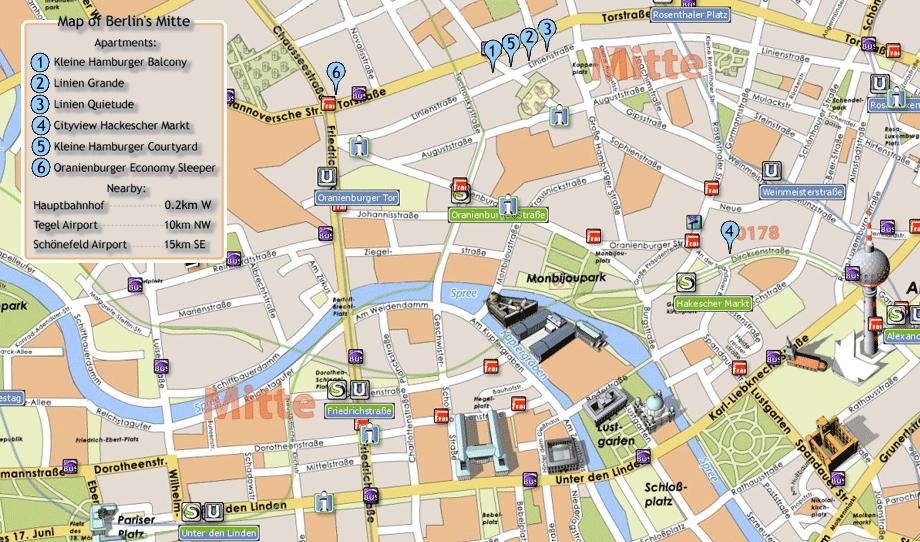 Berlin Tourist Map Auf mapperycom httpwwwpinterestcom