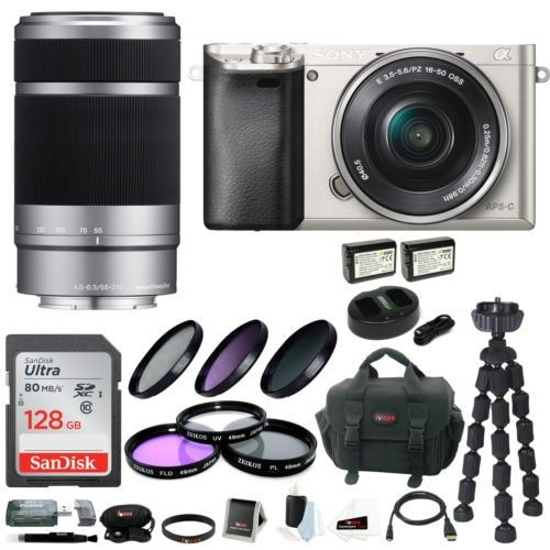 Sony Alpha A6000 Ilce6000ls Ilce6000l S 24 3 Mp Interchangeable Lens Camera Kit Camera Lens Zoom Lens Camera