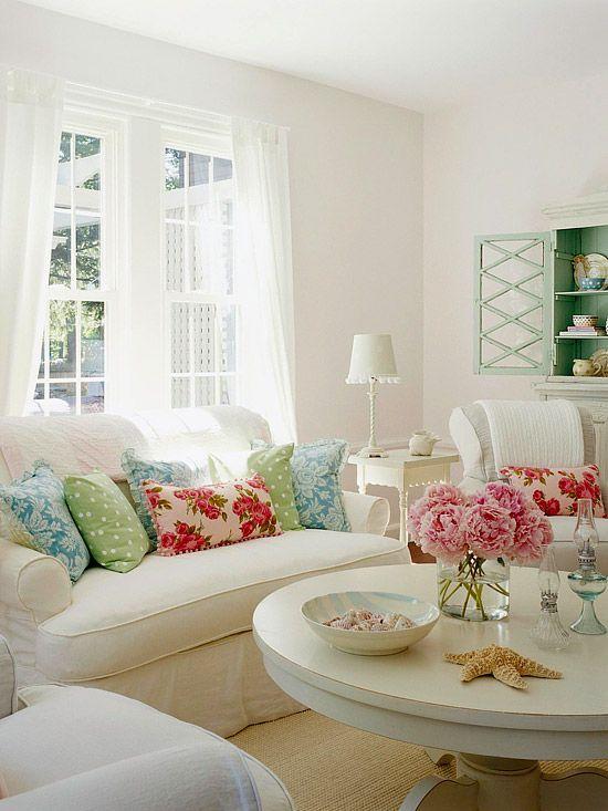 Pin von Nina Wiesniewski auf Shabby Chic Pinterest Wohnzimmer - wohnzimmer grun weis