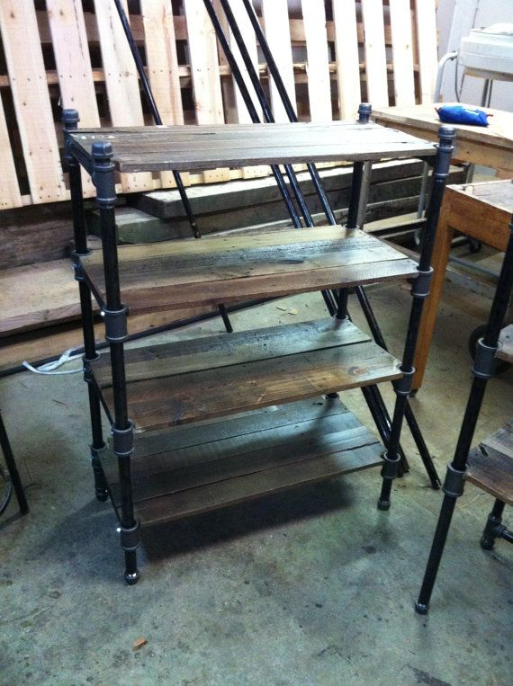 reclaimed oak and industrial cast iron pipe shelving unit furniture h