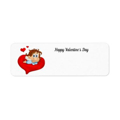 Cute Animated ValentineS Day Angel Label  Return Address