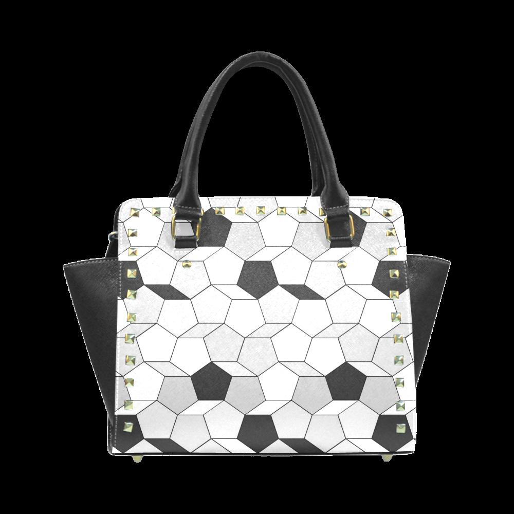 Personalized custom design friendly summer pattern 07 Rivet Shoulder Handbag