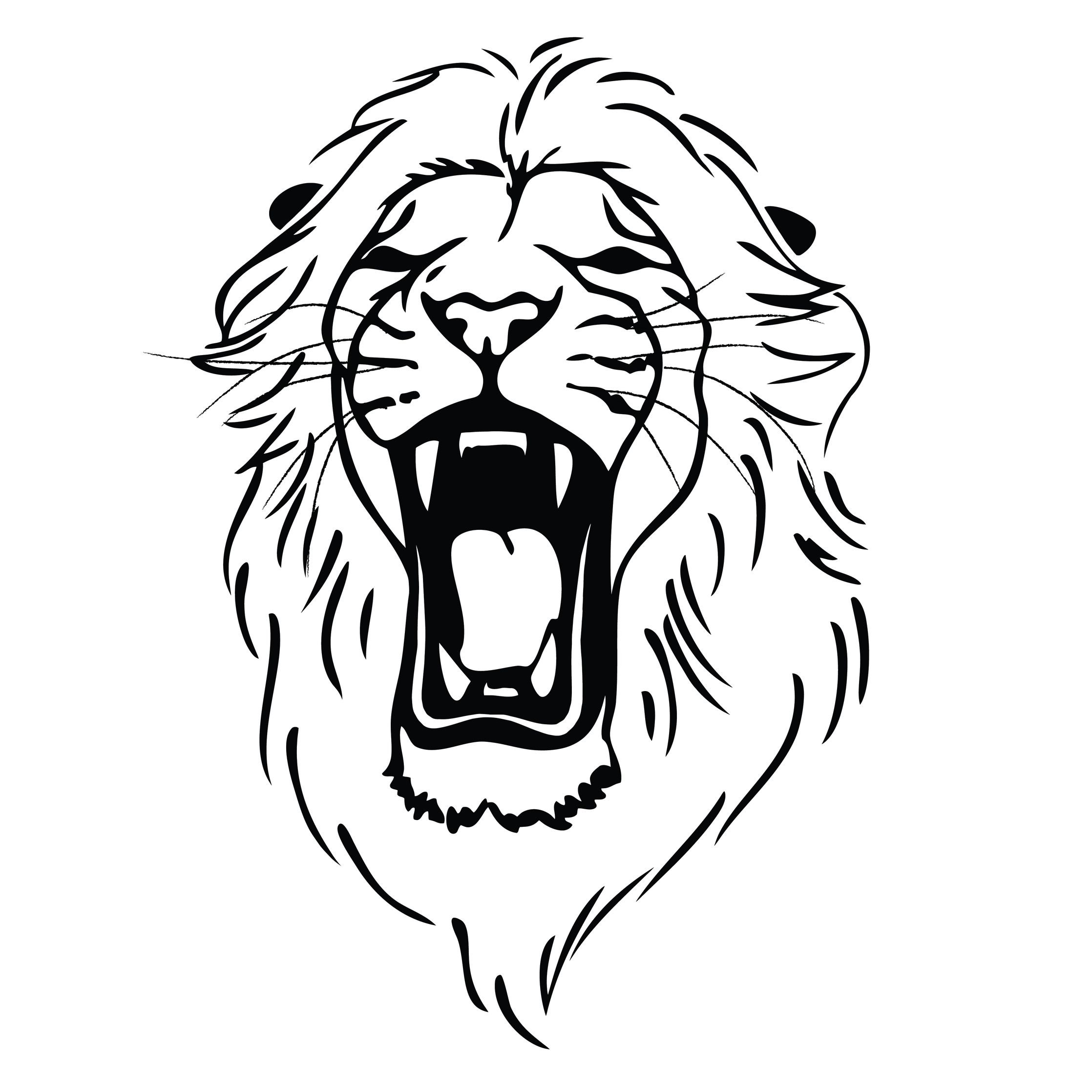 lion roaring drawing clipart panda free clipart images [ 2236 x 2236 Pixel ]