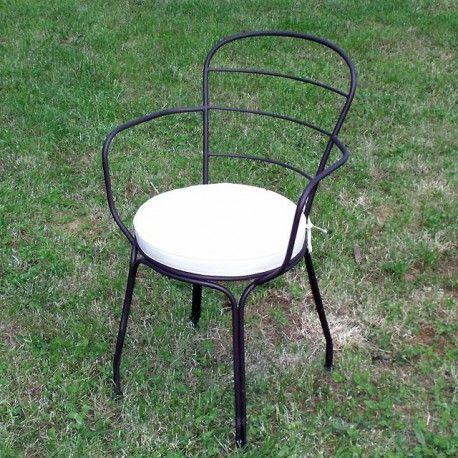 fauteuil de salon de jardin en fer forg et peinture poxy. Black Bedroom Furniture Sets. Home Design Ideas