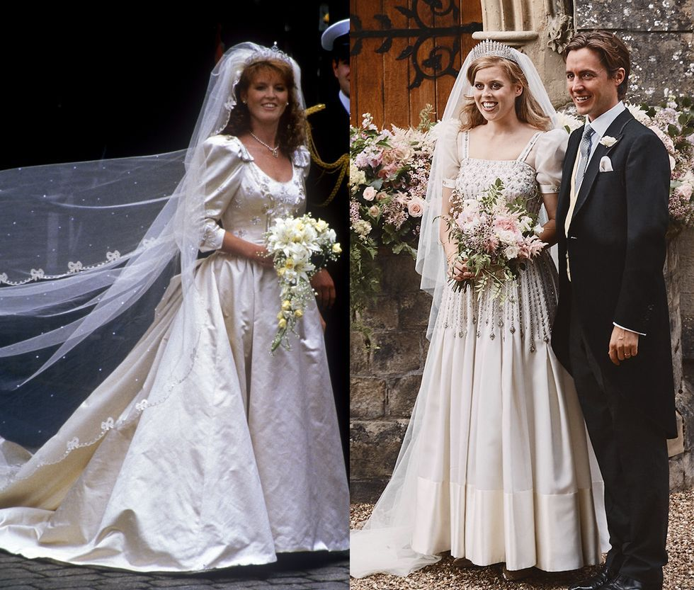 Princess Beatrice S Wedding Dress Pays Tribute To Her Mom Sarah Ferguson S Bridal Look Princess Beatrice Wedding York Wedding Dress Wedding Dresses [ 833 x 980 Pixel ]