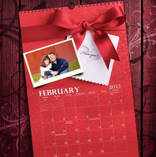 Custom Photo Calendar From Memories Publisher