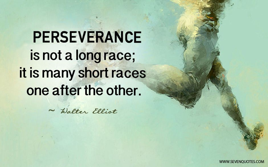 motivational quote of the day perseverance is not a long