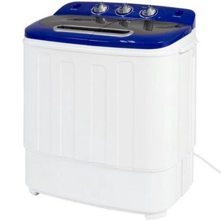 Best Choice Products Portable Compact Mini Twin Tub Washing Machine And Spin Cycle W Hose Walmart Com Washing Machine Portable Washer Mini Washing Machine