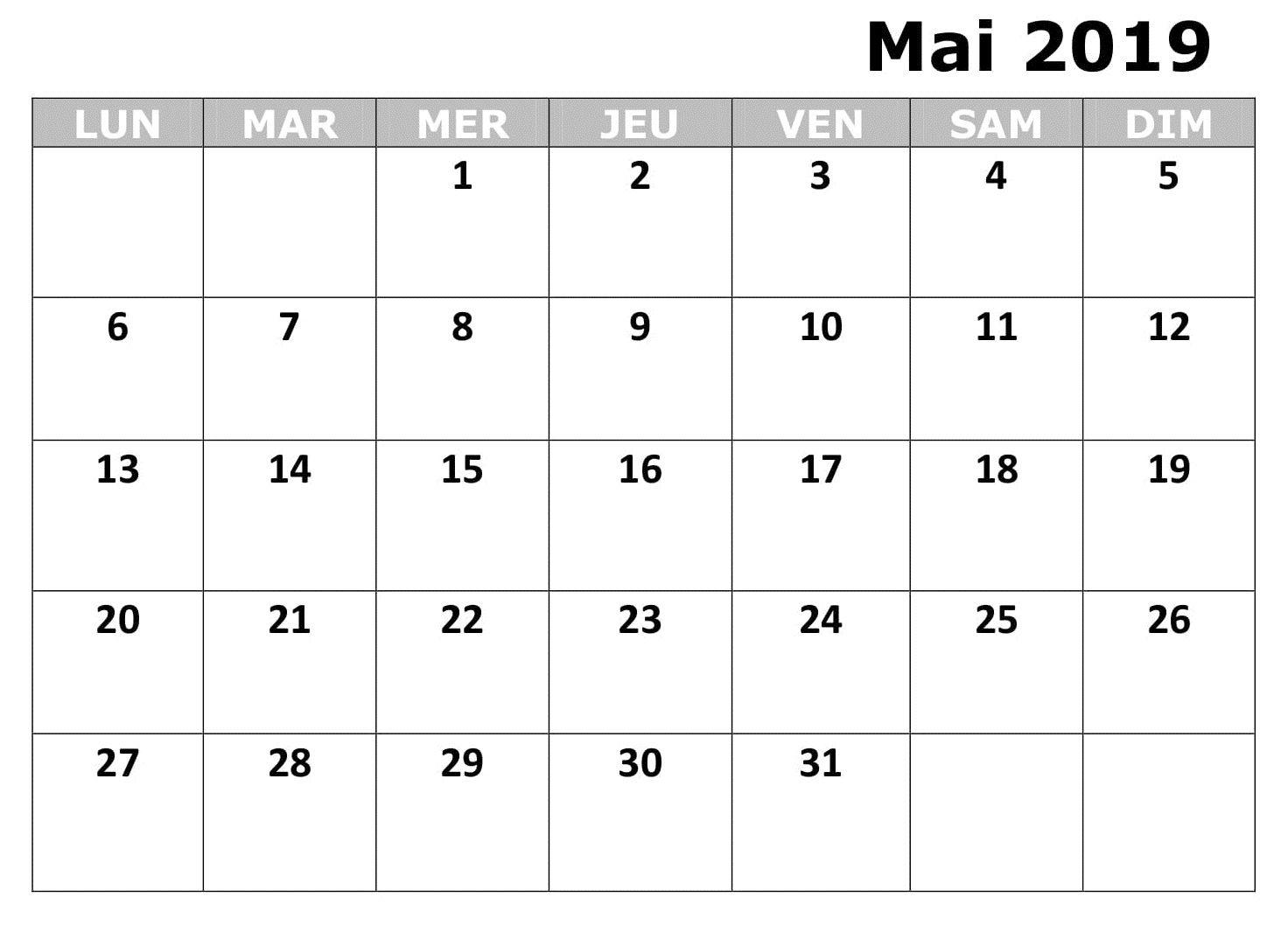 Astonishing Mois Calendrier Mai 2019 A Imprimer Calendrier Mai 2019 Beutiful Home Inspiration Truamahrainfo