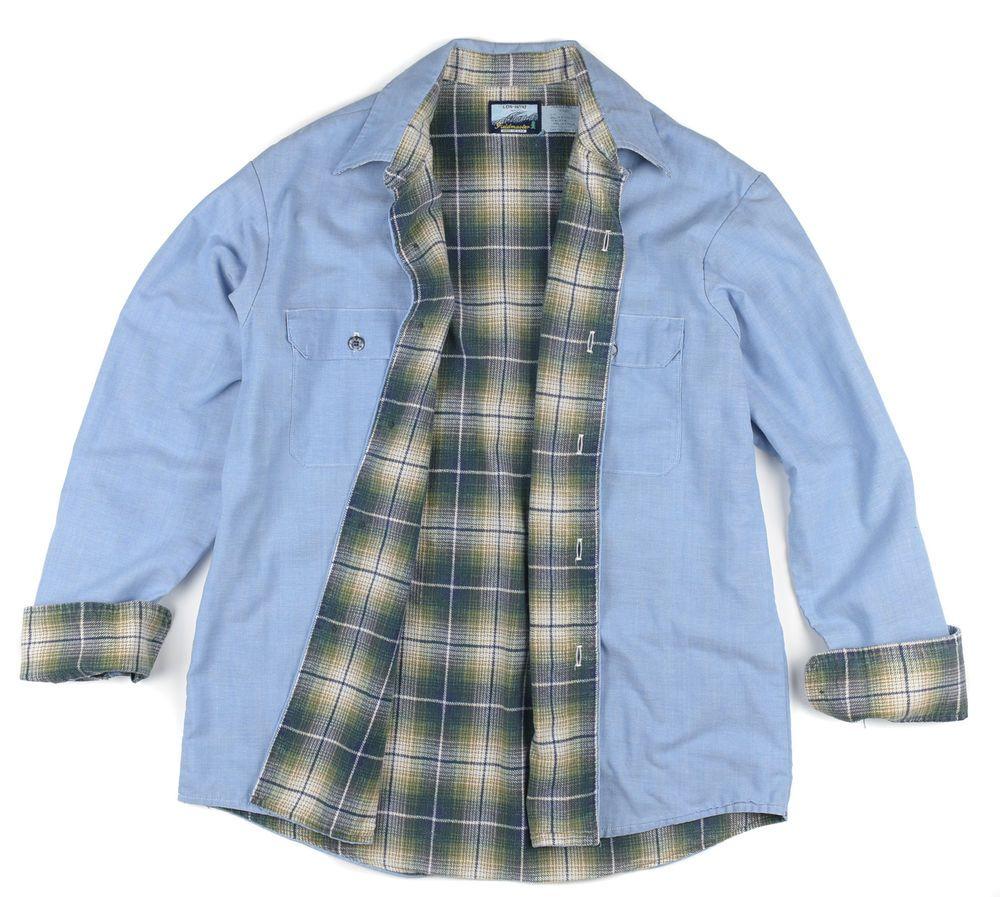 Vintage Insulated Chambray Work Shirt Fieldmaster Men's Large rhqTun3r