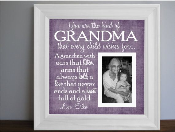 Grandmother Frame - Grandma picture frame - Grandparent personalized ...