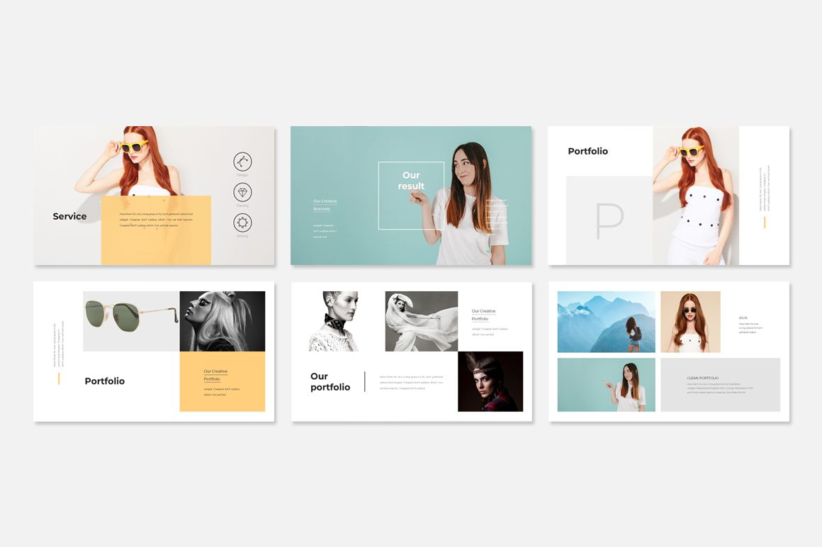 Fashion Presentation Powerpoint Template 78432