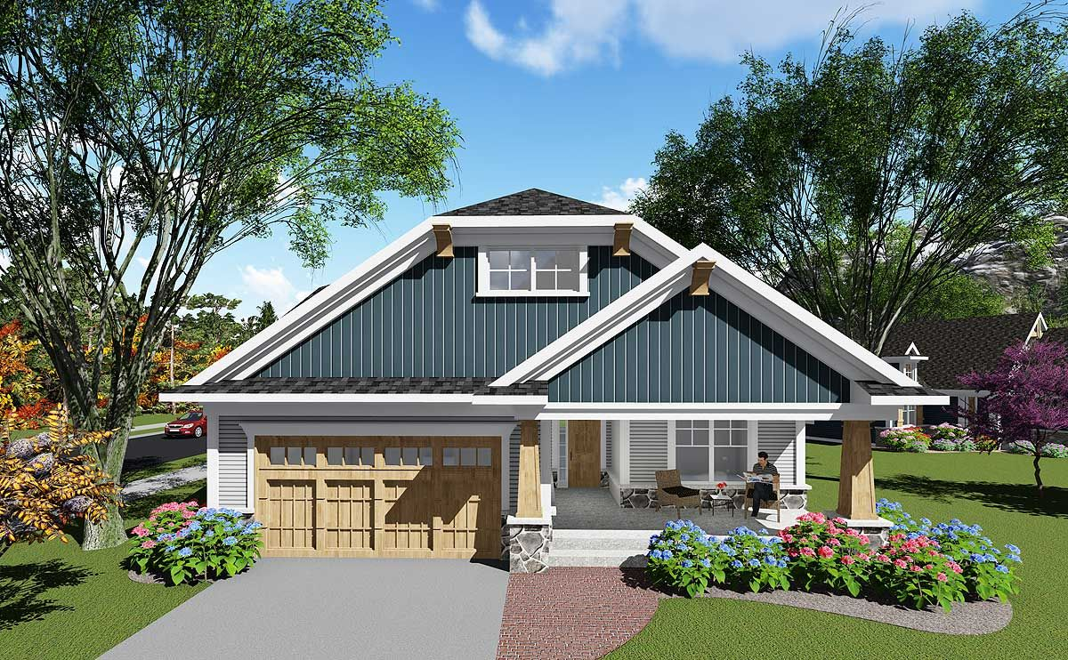 Plan 890010AH Distinctive Craftsman Bungalow Plan 890010AH