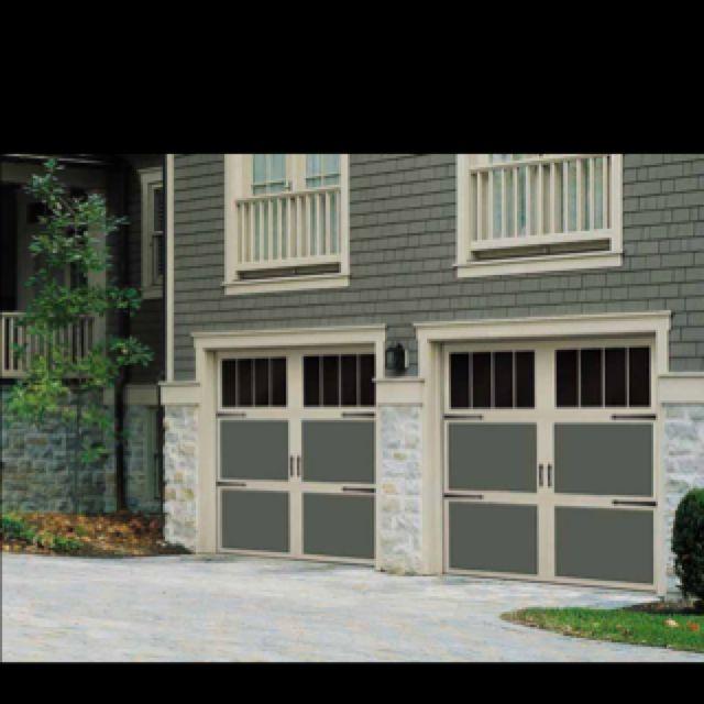 Love The Vertical Windows On 3 Piece Door Garage Door Design Garage Door Types Garage Door Colors