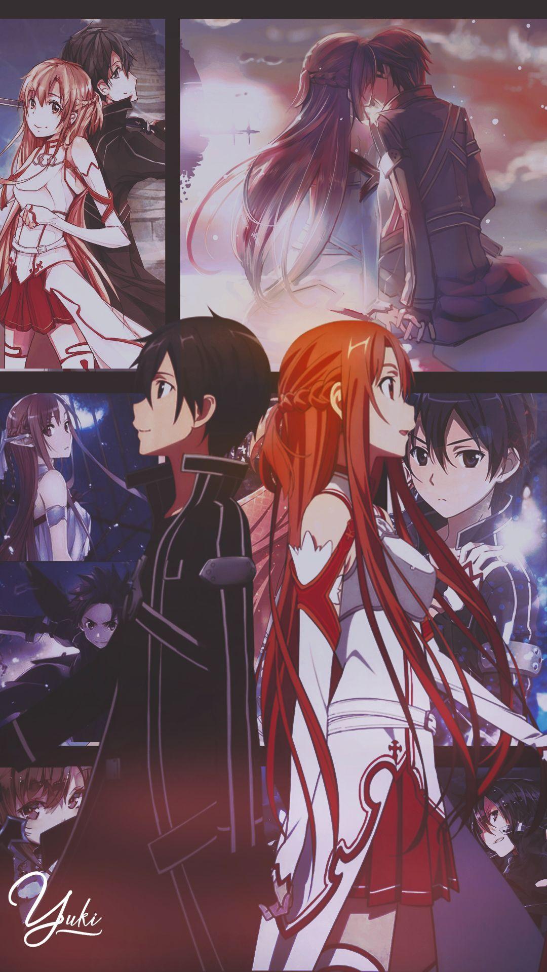 Most Beautiful Anime Wallpaper Iphone Art Kirito Asuna Sao Japan Wallpaper Arts Edit In 2020 Sword Art Online Wallpaper Sword Art Online Asuna Sword Art