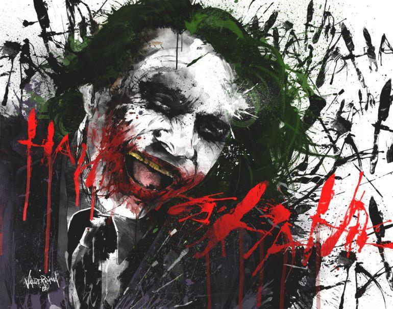 Joker Scribble Drawing : Christian bales batman heath ledgers the joker feature in