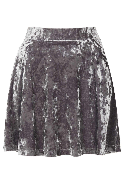 5b9fb3b878 Petite Crushed Velvet Skirt - New In This Week - New In - Topshop ...
