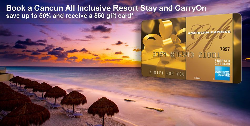 Save up to 40% off on these All-inclusive Cancun Area Resorts in Riviera Maya. You also get a $50 American Express gift card!
