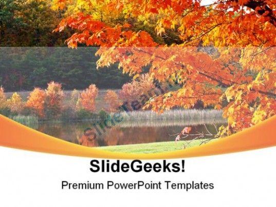 Autumn Park Nature PowerPoint Template 1010 #PowerPoint #Templates - nature powerpoint template