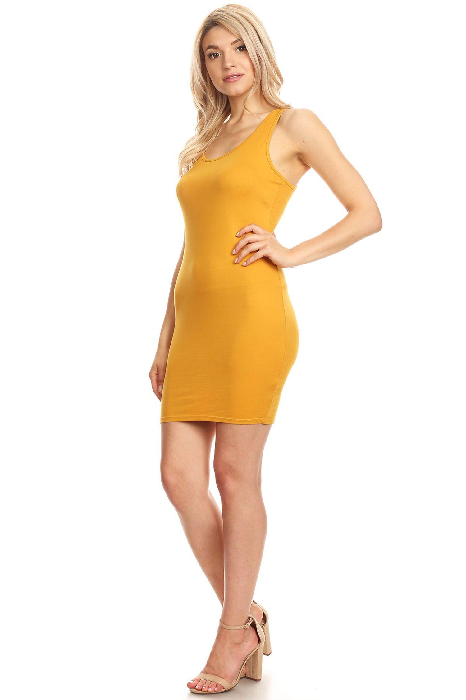 Moa Collection Women S Solid Color Racerback Tank Style Bodycon Dress Walmart Com Bodycon Dress Dresses Midi Dress Bodycon [ 2250 x 1500 Pixel ]