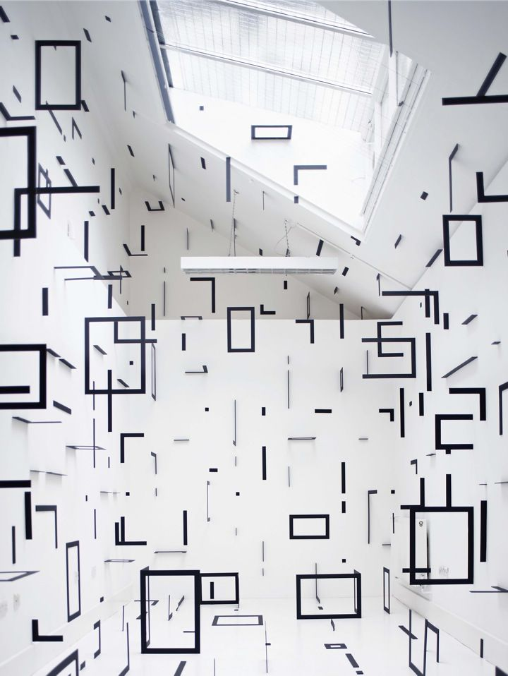 Esther Stocker Contemporary Abstract Art Artistic Installation