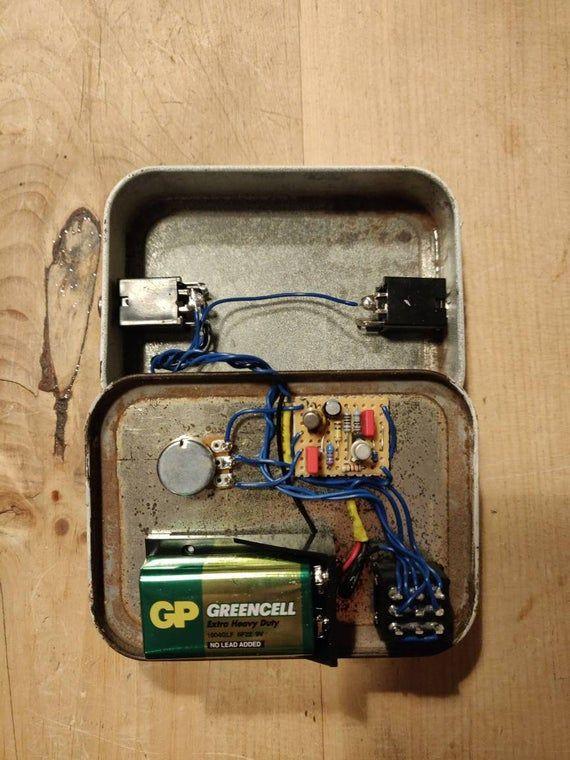NEelectronix | Coloursound One Knob Fuzz Guitar Pedal Tobacco Tin