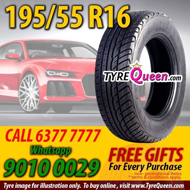 195 55r16 Tyres At Tyrequeen Com Call 63777777 Whatsapp 90100029 Www Tyrequeen Com Phone Booking At 63777777 Whatsapp 90100029 Tyrequeen Workshops At Juro