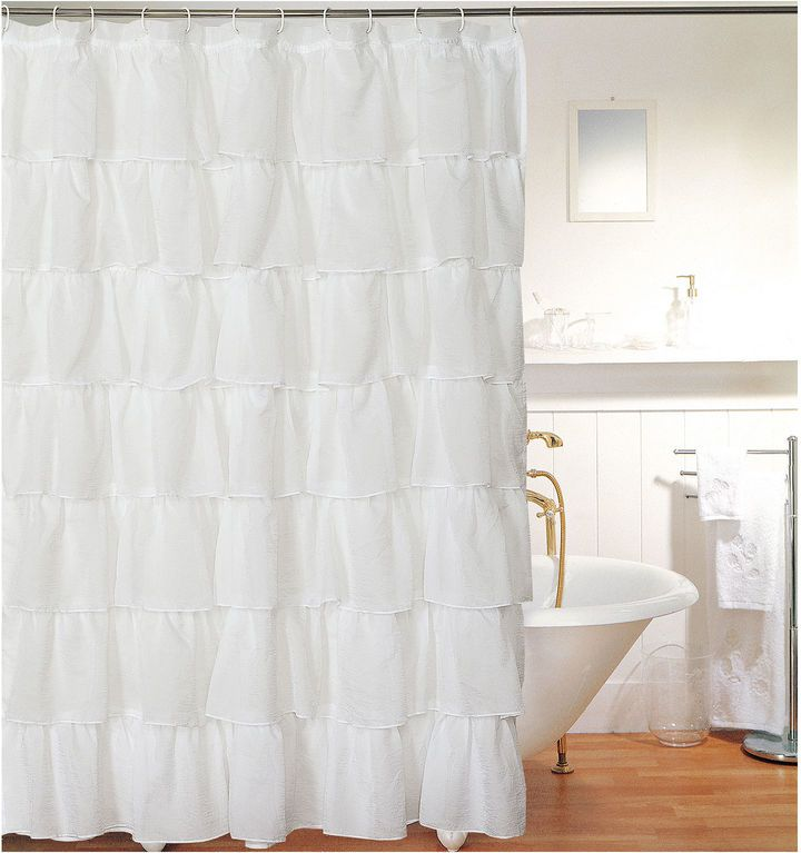 JCP Layered Voile Shower Curtain | Bathroom | Pinterest
