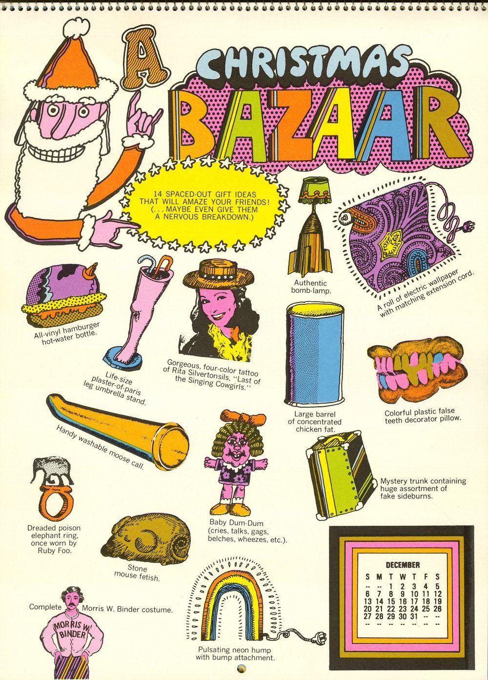 1970 71 Hallmark Calendar The Peculiar Manicule Vintage