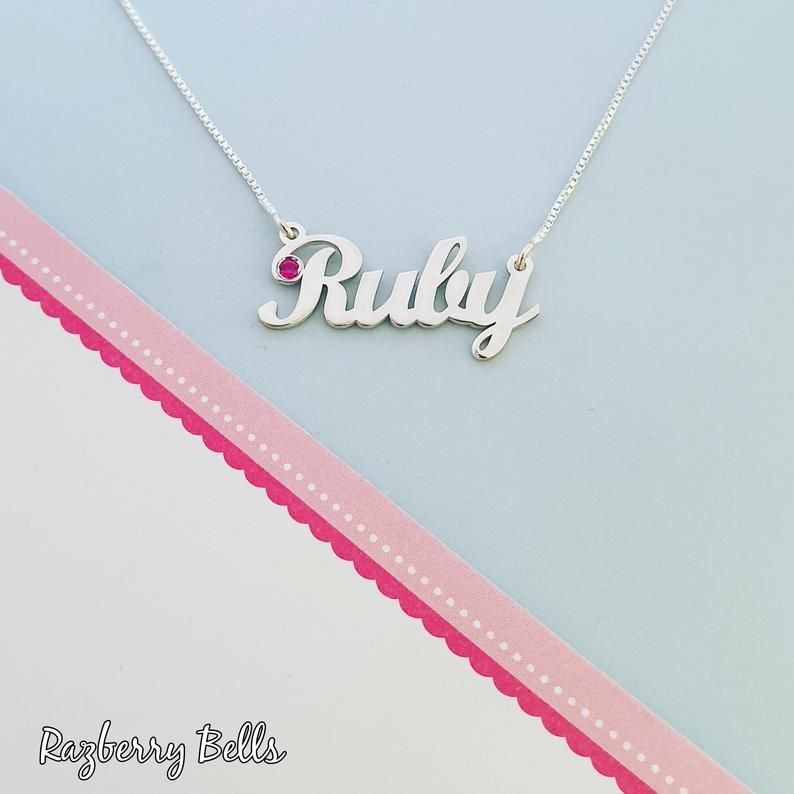 925 Sterling Silver MICHELLE Name Necklace Womens Girls Pendant Gift Ready Stock