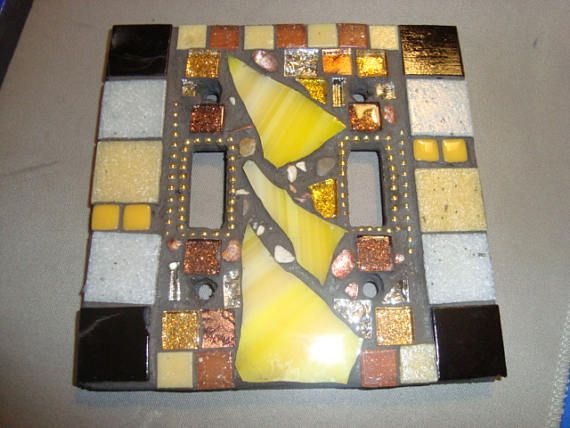 MOSAIC LIGHT SWITCH Plate Cover - Double, Wall Plate, Home Decor ...