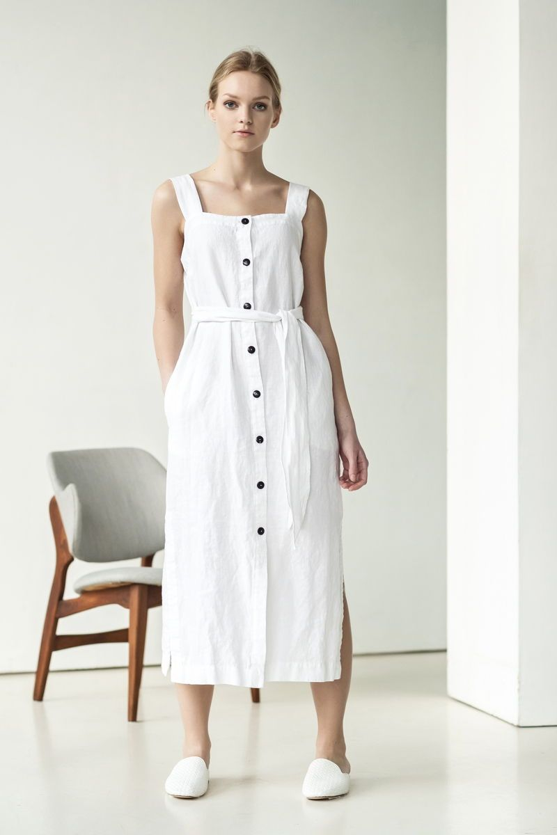 White Linen Dress Outfit For Rustic Bride For Vintage Bride For Boho Bride And Simple Bride It Linen Dress Outfit Casual White Dress Vintage Dresses Casual [ 1200 x 800 Pixel ]