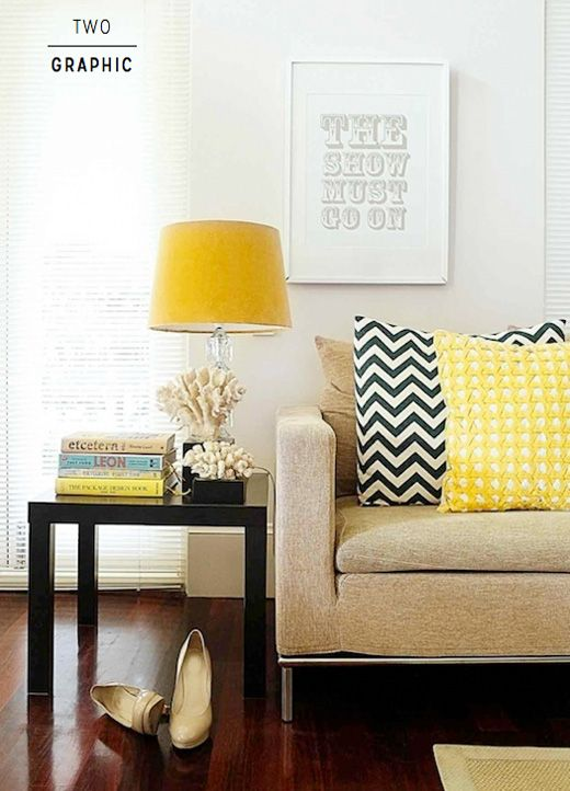 Seven Creative Ideas To Decorate With Yellow Contemporary Living Room Living Room Designs Room Design